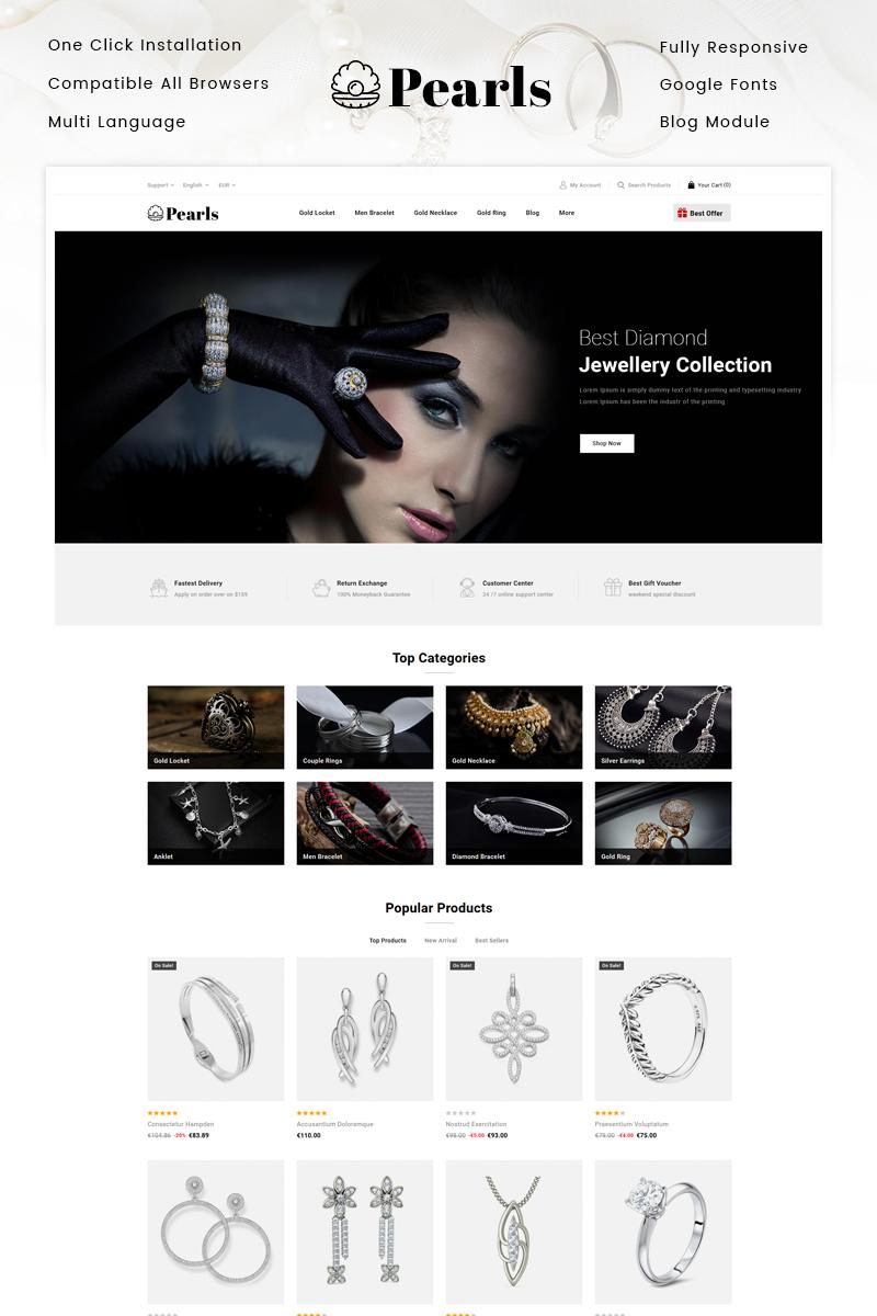 Pearls - Jewellery Store PrestaShop Theme