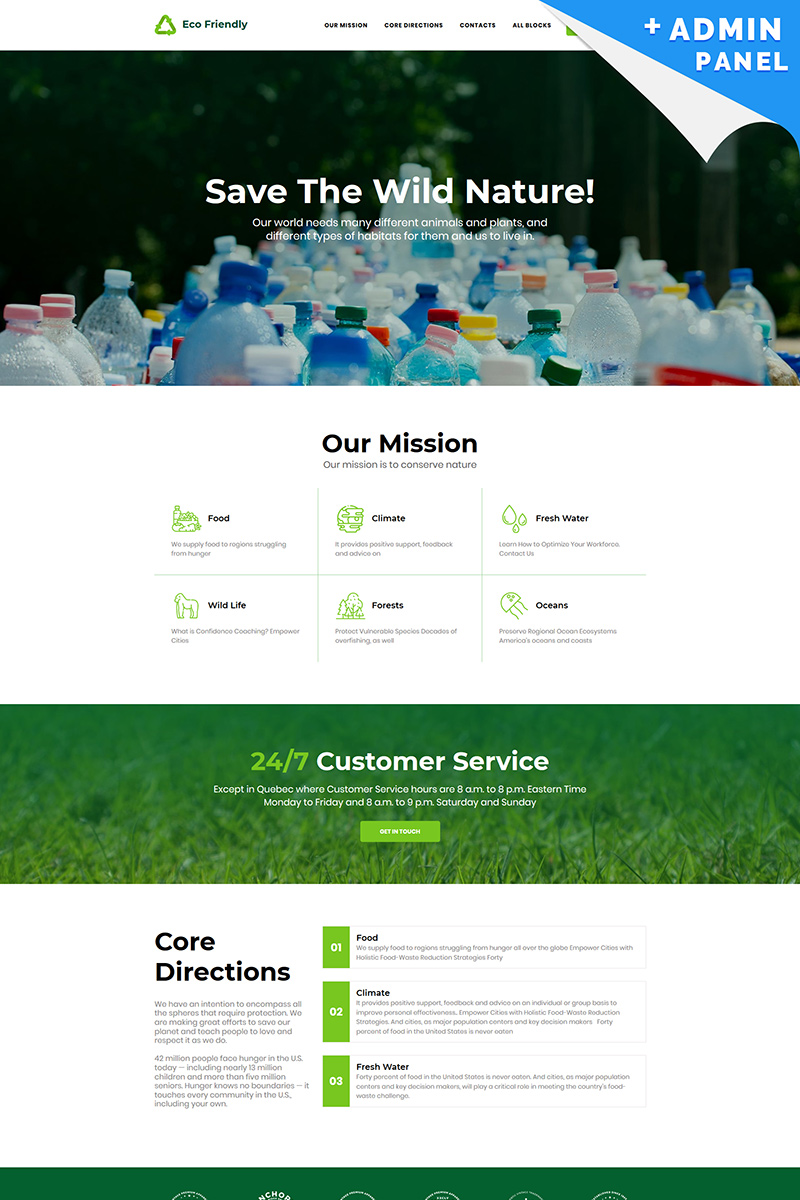 Eco Friendly - Recycle Landing Page Template