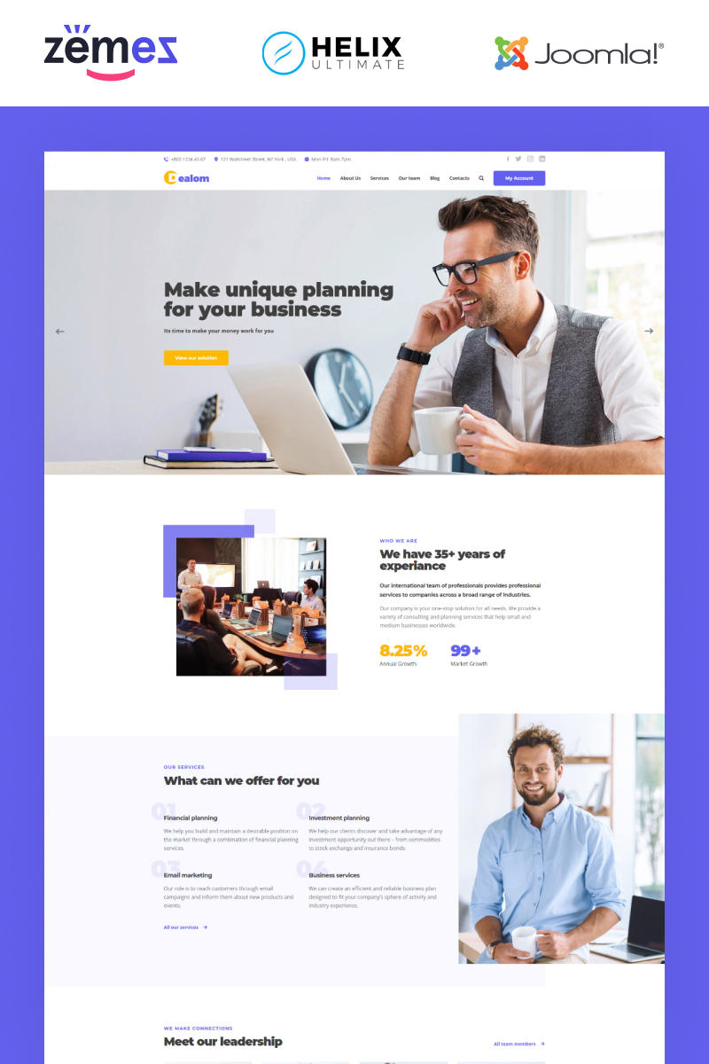 Dealom - Business Consulting Responsive Classic Joomla Template
