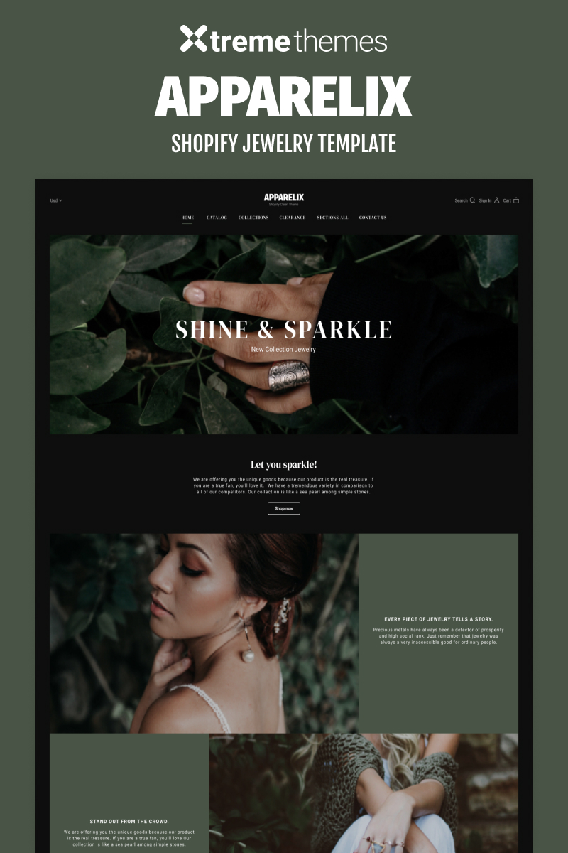Jewelry Online Store Shopify Theme Shopify Theme
