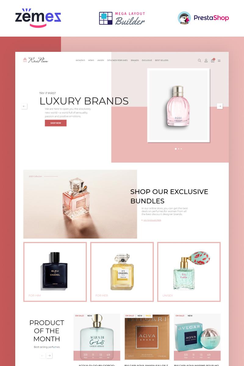 RosePlum - Perfume Store Template PrestaShop Theme