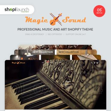 Template Muzică Shopify #95312