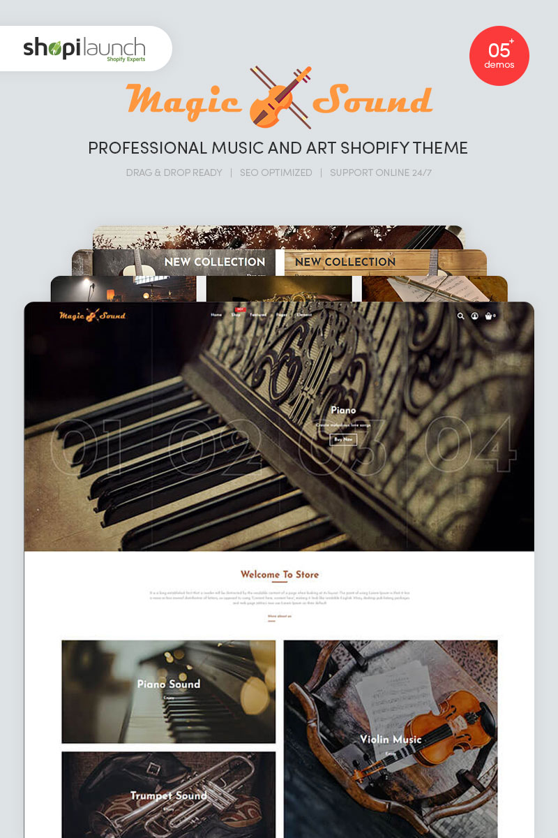 MagicSound - Professional Music and Art Shopify Theme