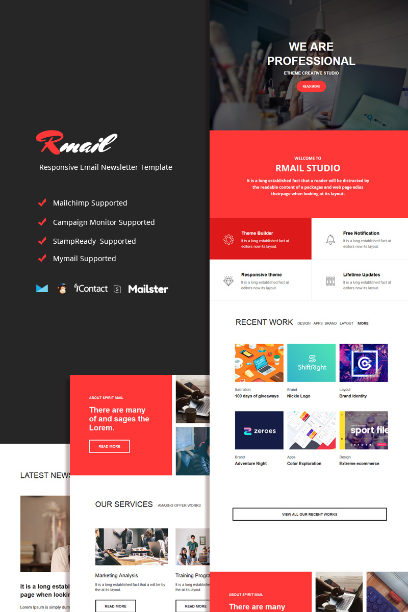 Rmail - Responsive Email Newsletter Template
