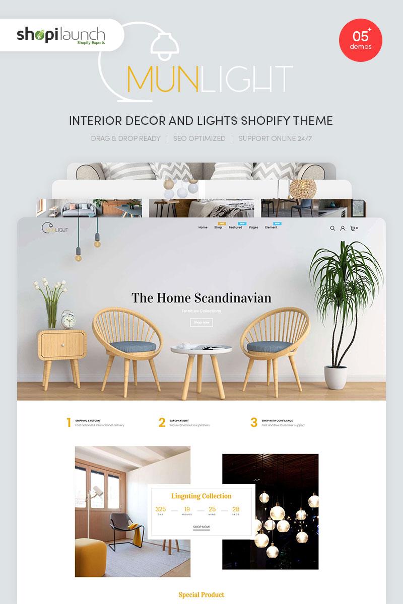 Munlight - Interior Decor and Lights Shopify Theme