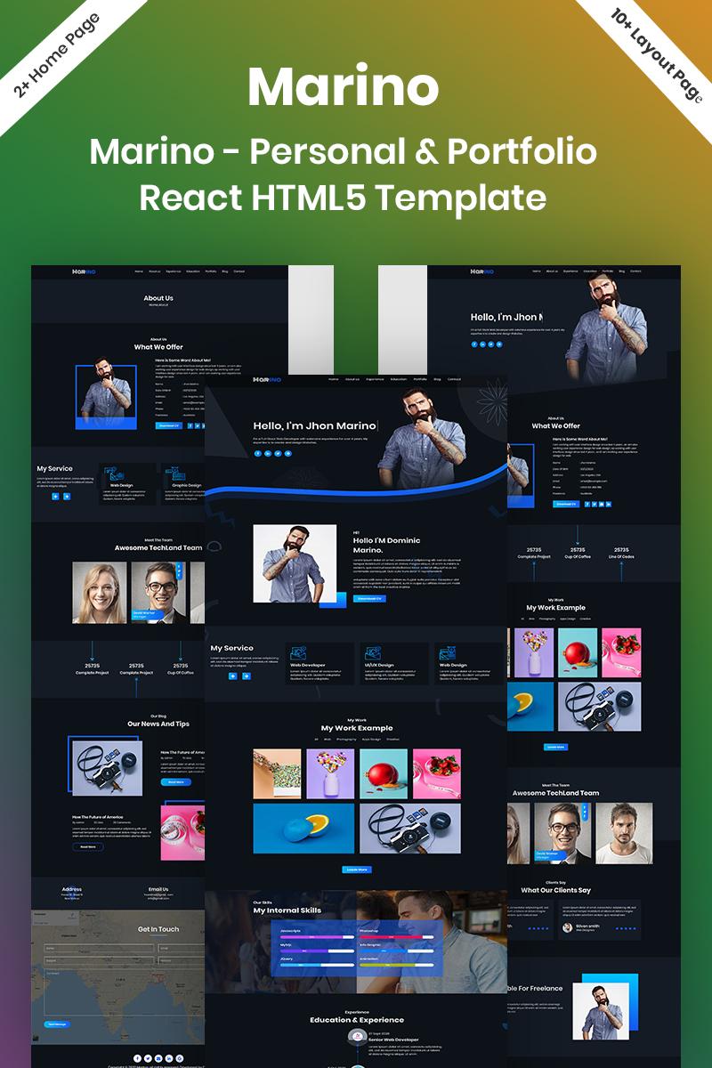 Marino - Personal & Portfolio React HTML5 Landing Page Template