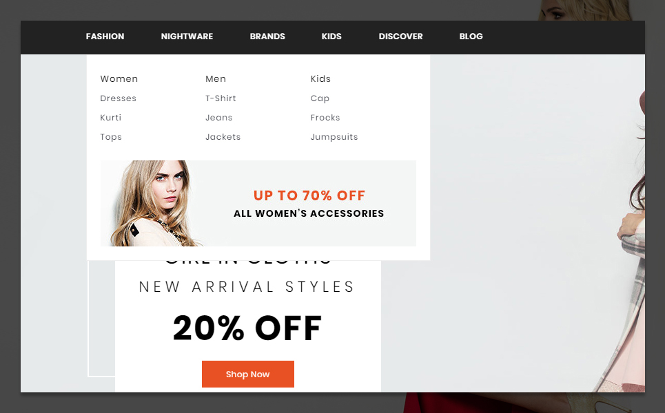 Mark Fashion and Shoes Store PrestaShop Theme