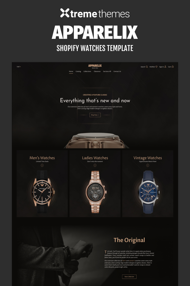 Watches Store Website Template Shopify Theme