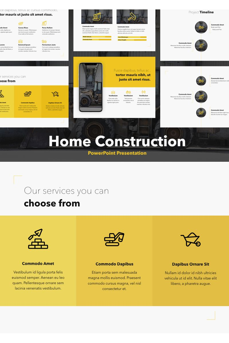 Home Construction PowerPoint Template