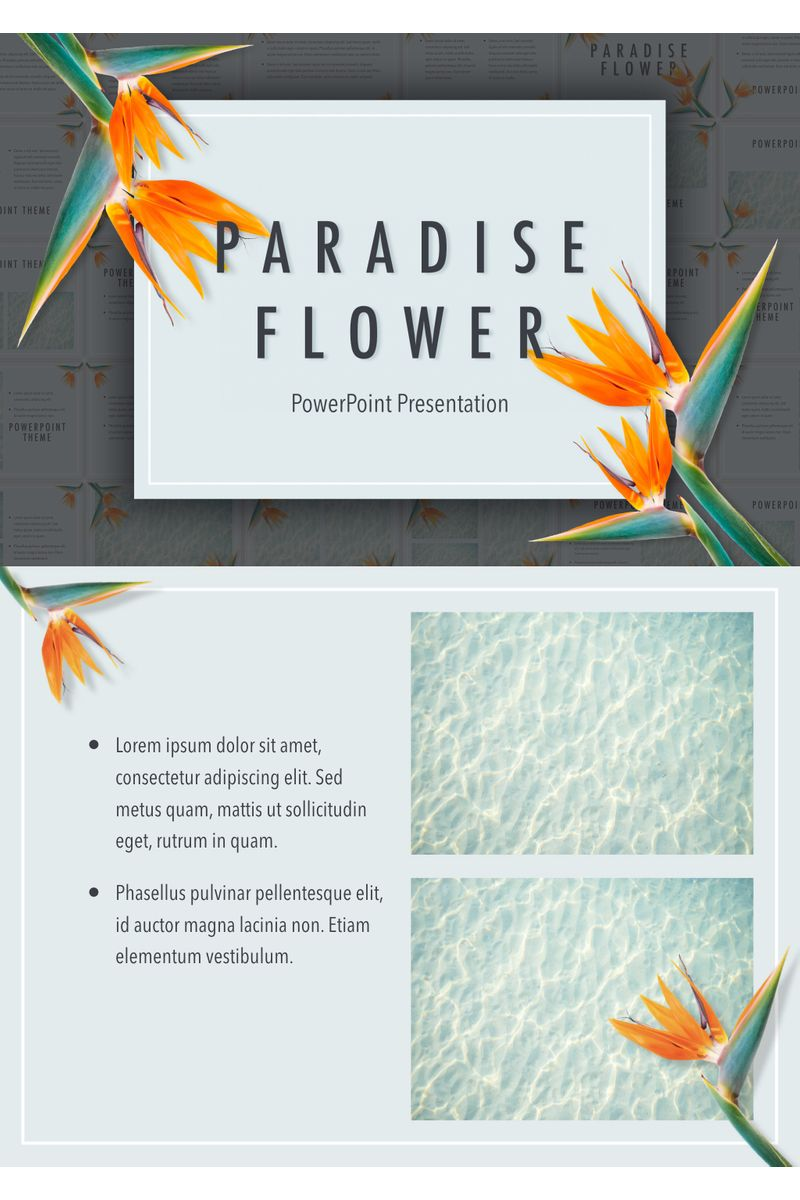 Paradise Flower PowerPoint Template