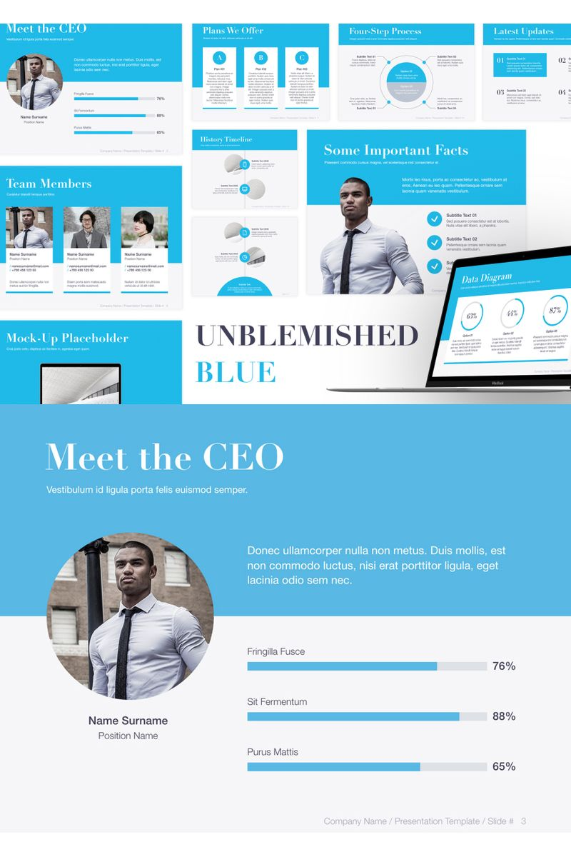 Unblemished Blue PowerPoint Template