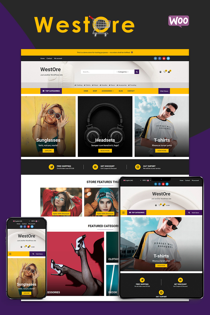 WestOre - Modern, Flexible and Multi-purpose WooCommerce Theme