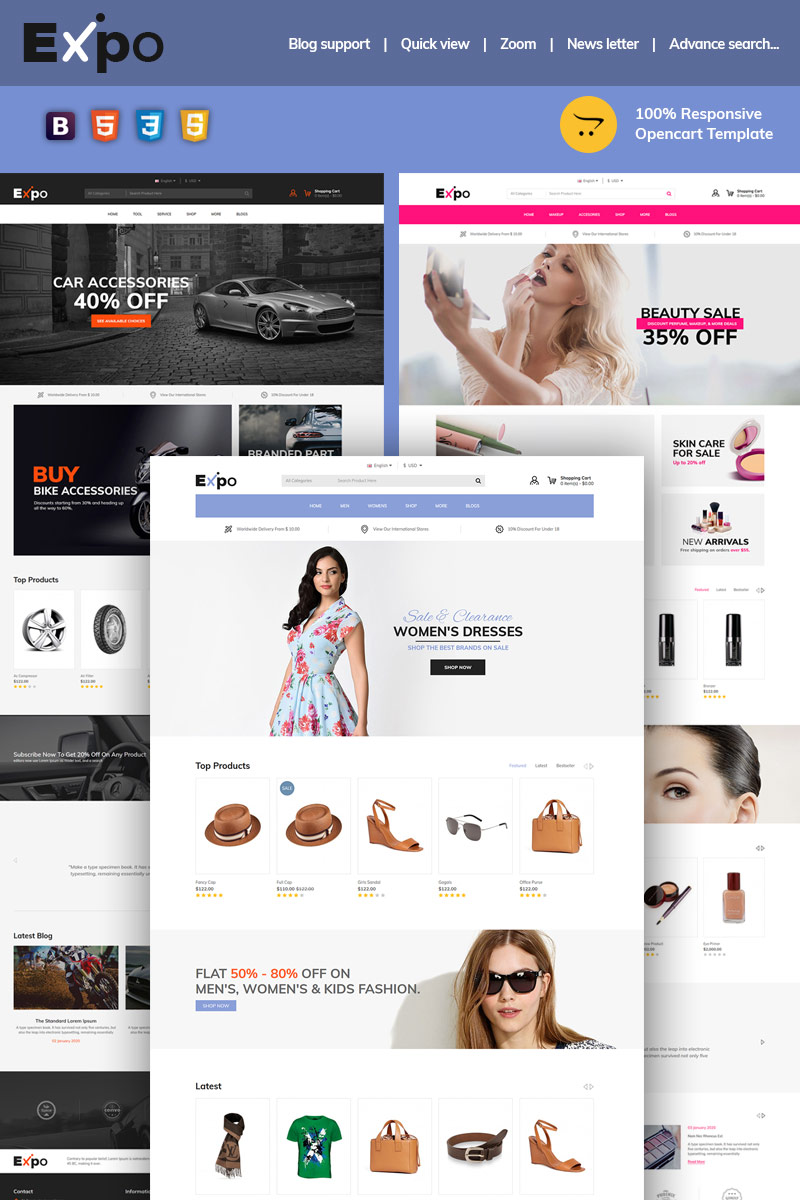 Expo Multipurpose OpenCart Template