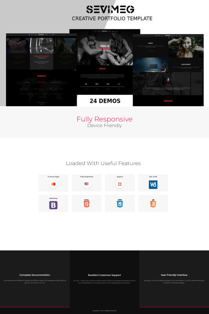 Sevimeg - Creative Photography Portfolio Landing Page Template