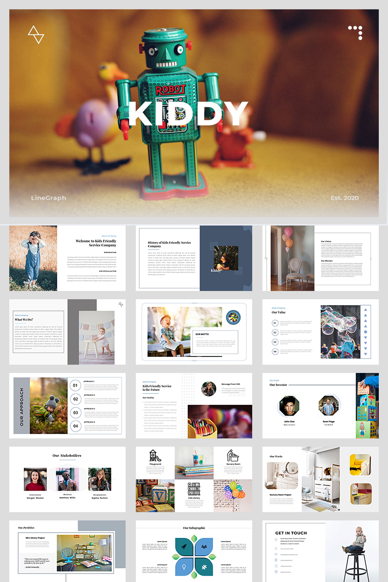 Kiddy - A Business Service PowerPoint Template