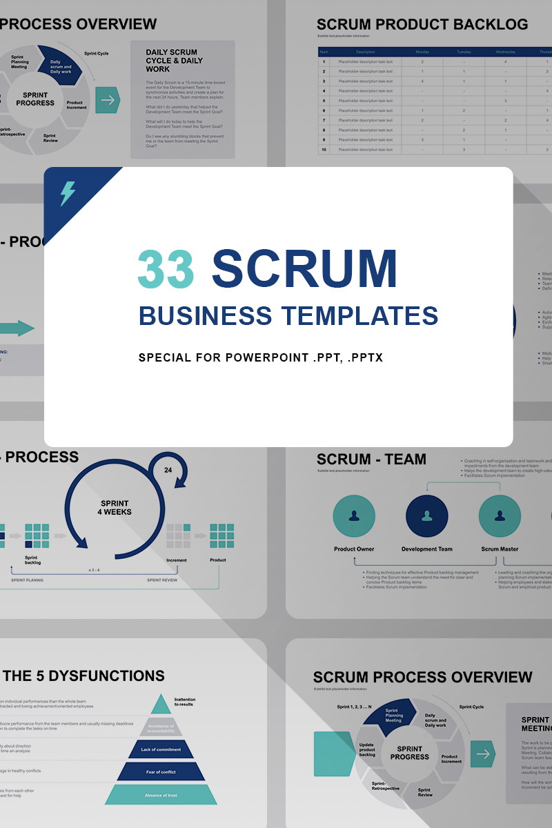 Scrum Model PPT PowerPoint Template