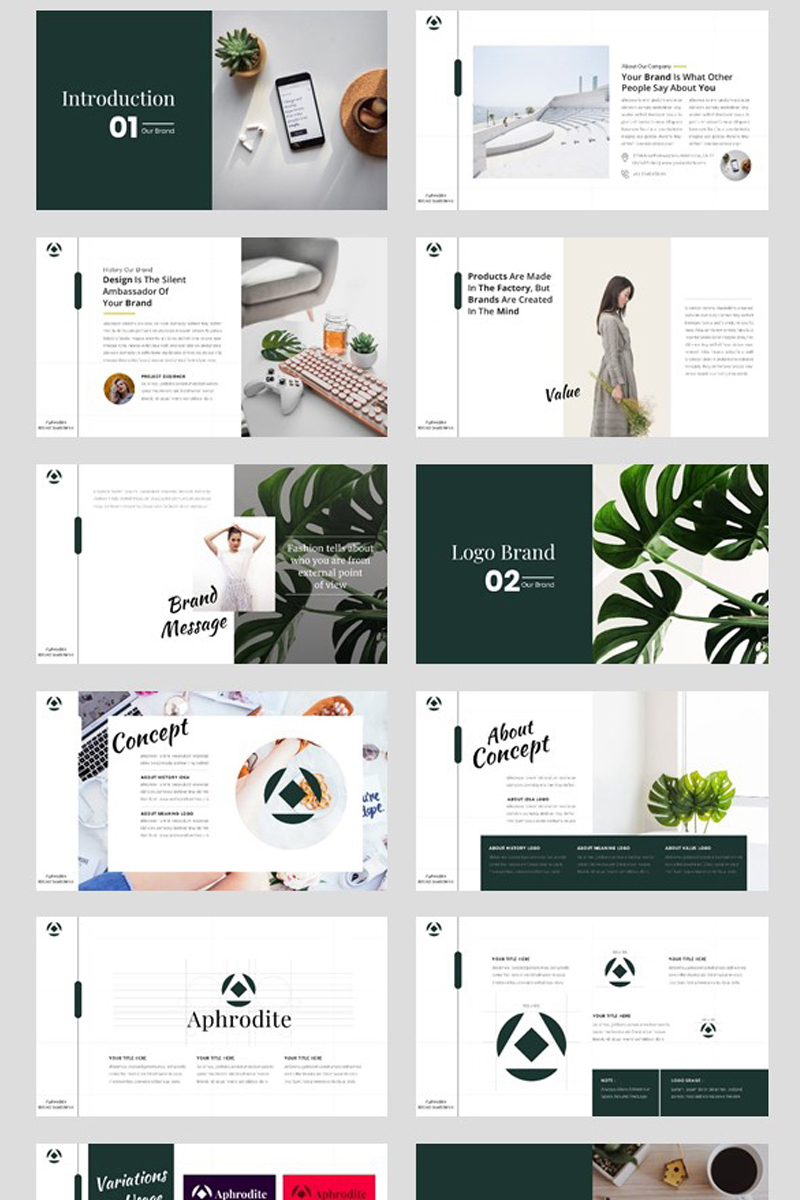 Brand Identity Guideline PowerPoint Template