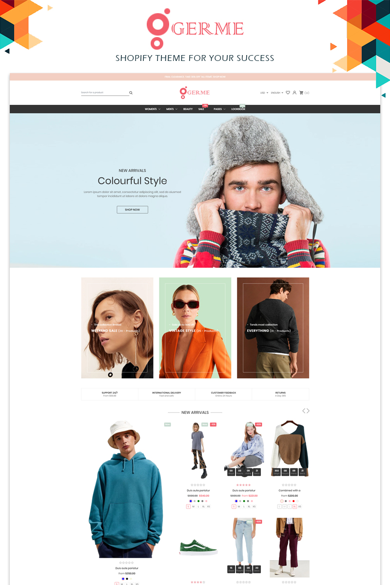 Germe Clothing Store Shopify Theme