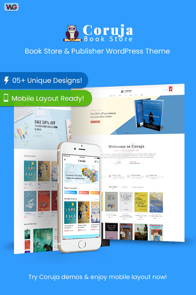 Coruja - Book Store & Publisher WooCommerce Theme