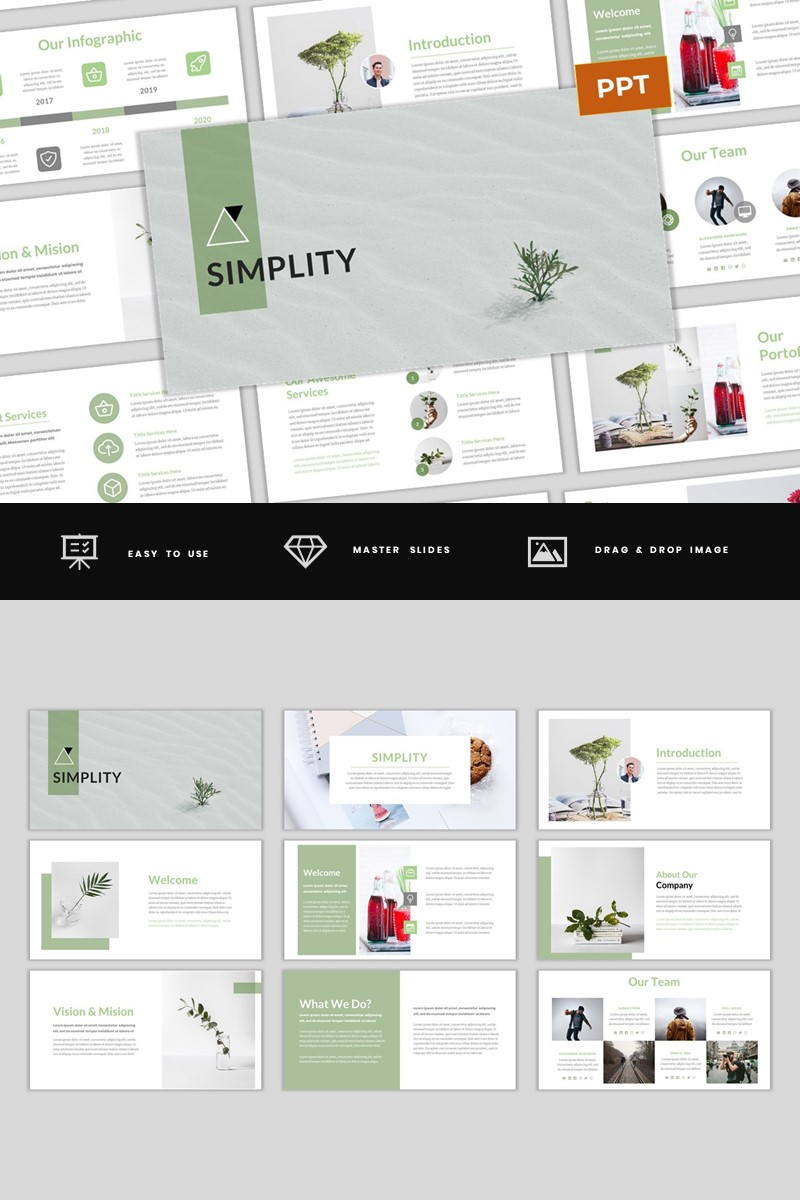 Simplity - Simple & Modern Business PowerPoint Template PowerPoint Template