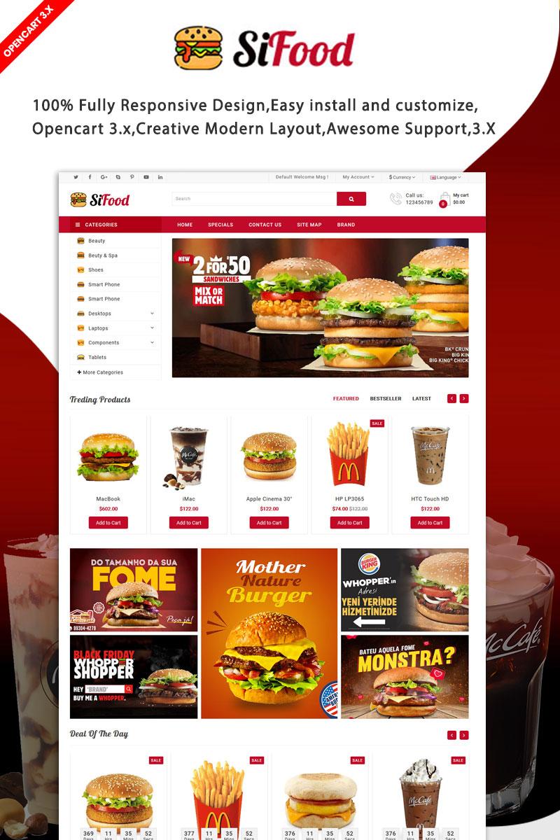 SiFood Restaurant Multipurpose Responsive Theme OpenCart Template