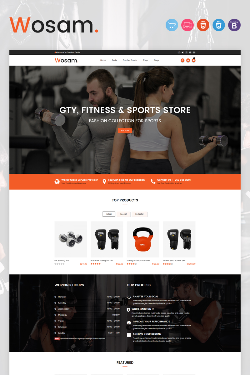 Wosam OpenCart Template