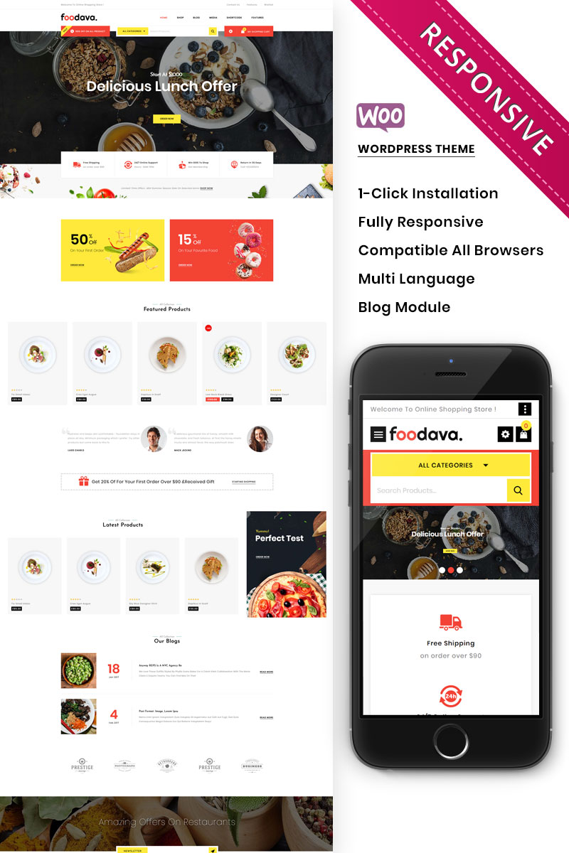 Foodava - The Cafe & Restaurant Premium WooCommerce Theme