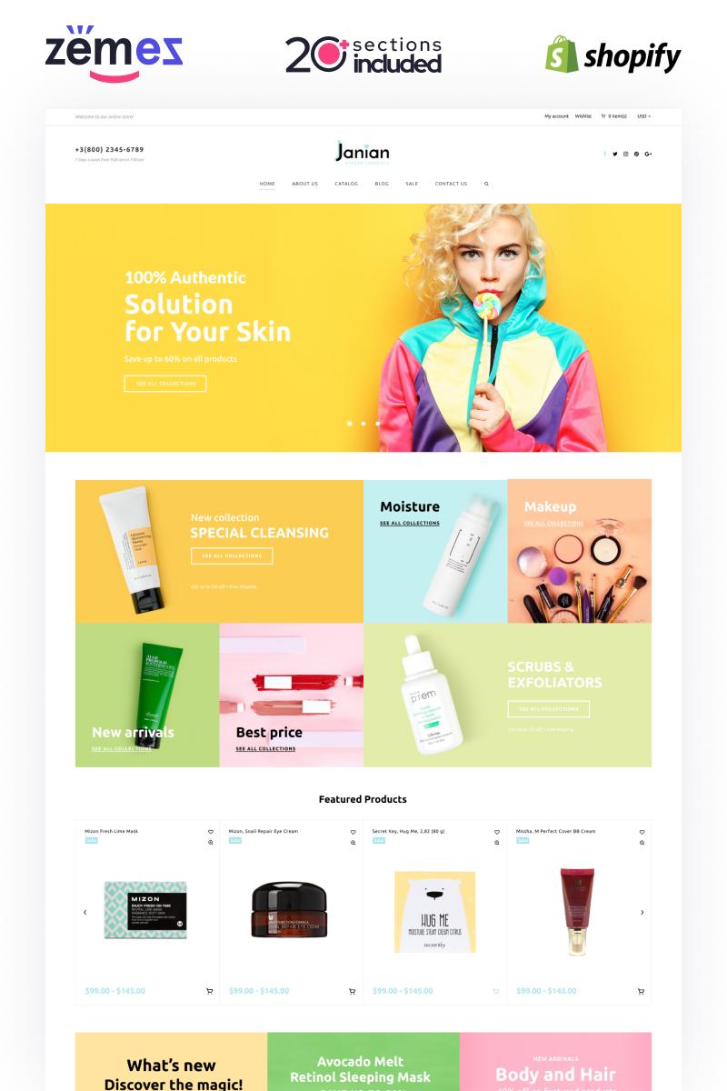 Janian - Korean Cosmetics Online Store Theme Shopify Theme