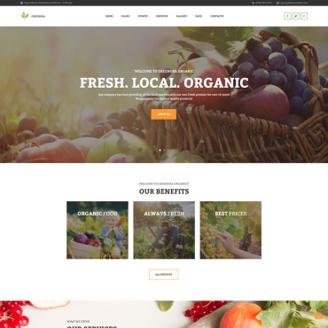 Template Agricultură WordPress #97754