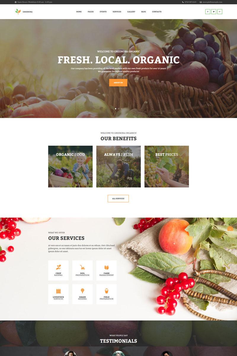 Greenora - Organic Farming Agriculture WordPress Theme