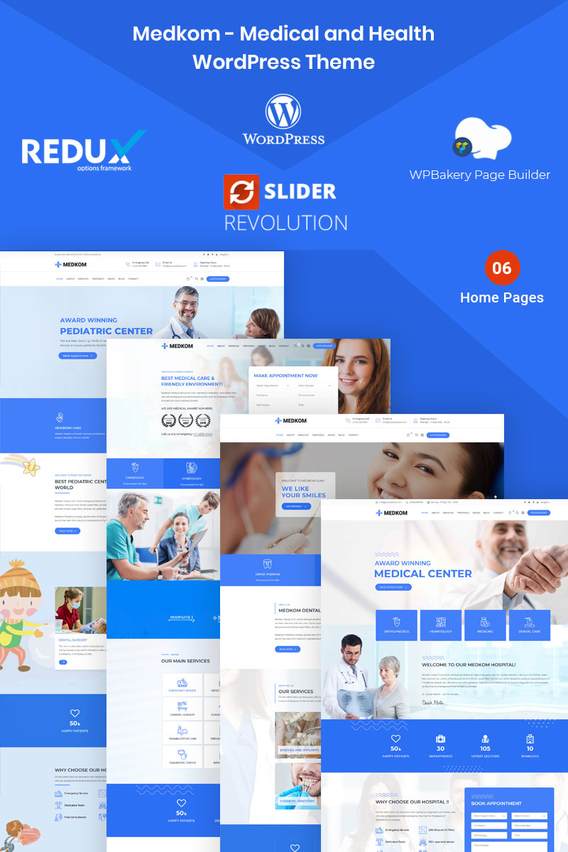 Medkom -  Medical & Health WordPress Theme