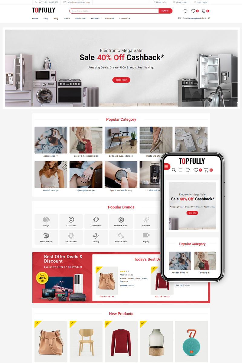 TopFully - Mega Shop Multipurpose WooCommerce Theme