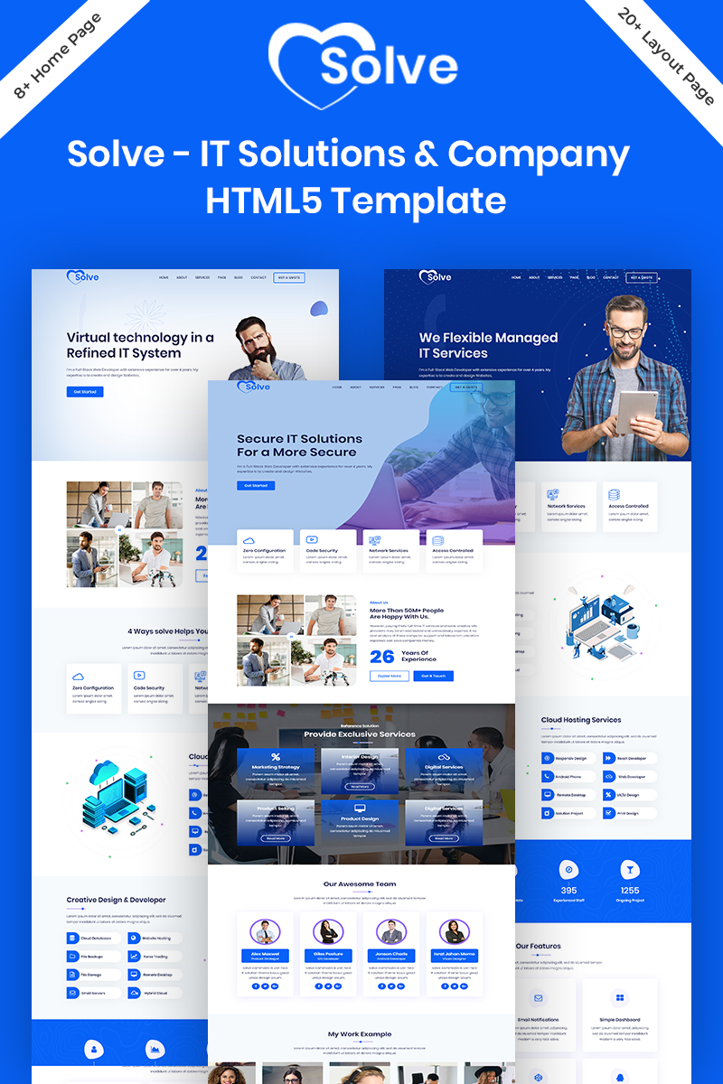 Solve - IT Solutions & Company  HTML5 Website Template
