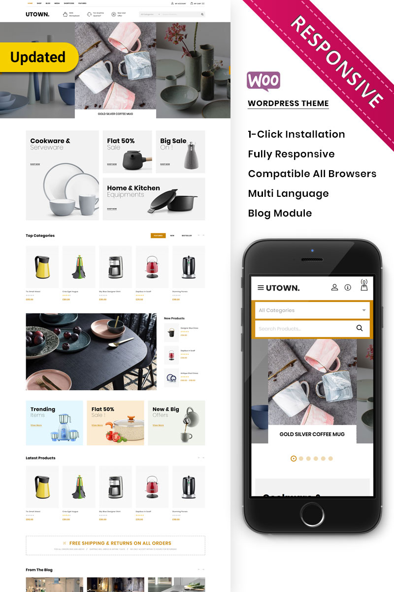 Utown - The Mega Kitchen Store Premium WooCommerce Theme