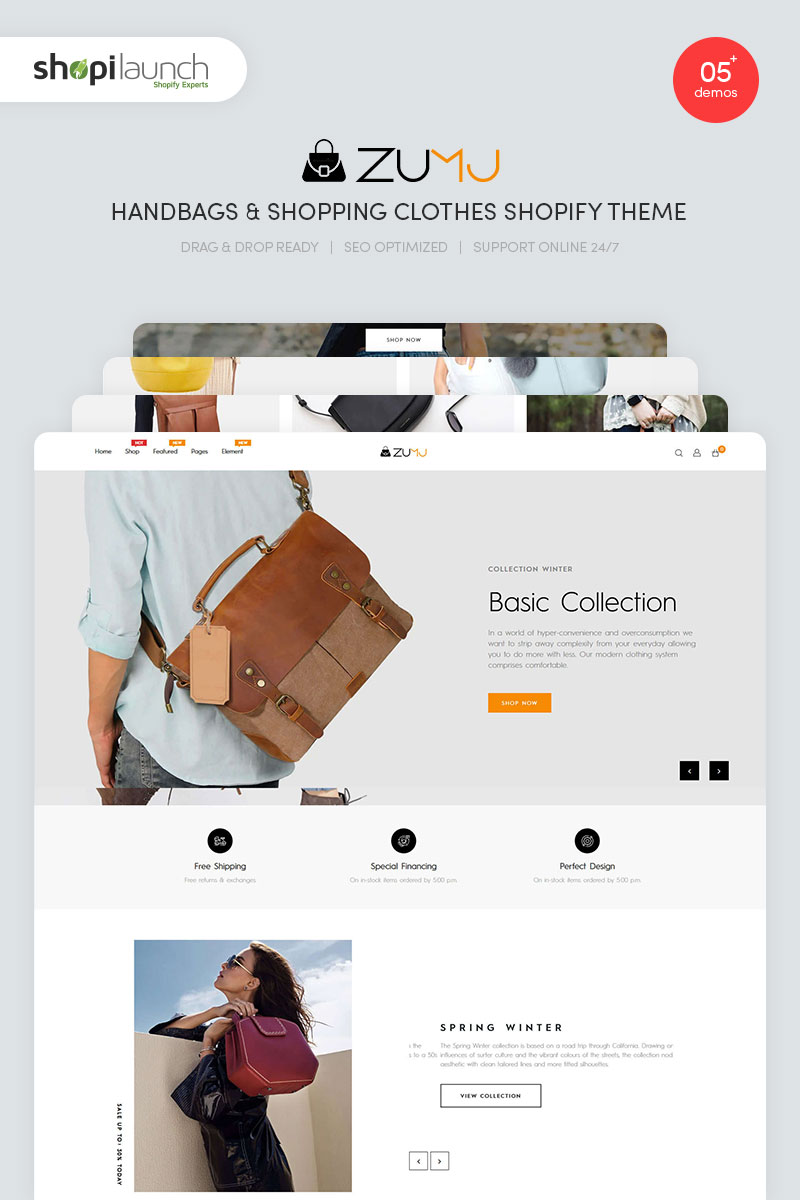 Zumj - Handbags & Shopping Clothes Shopify Theme