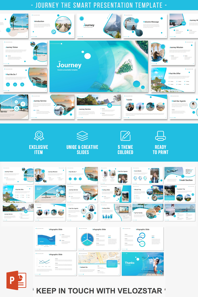 JOURNEY Presentation PowerPoint Template