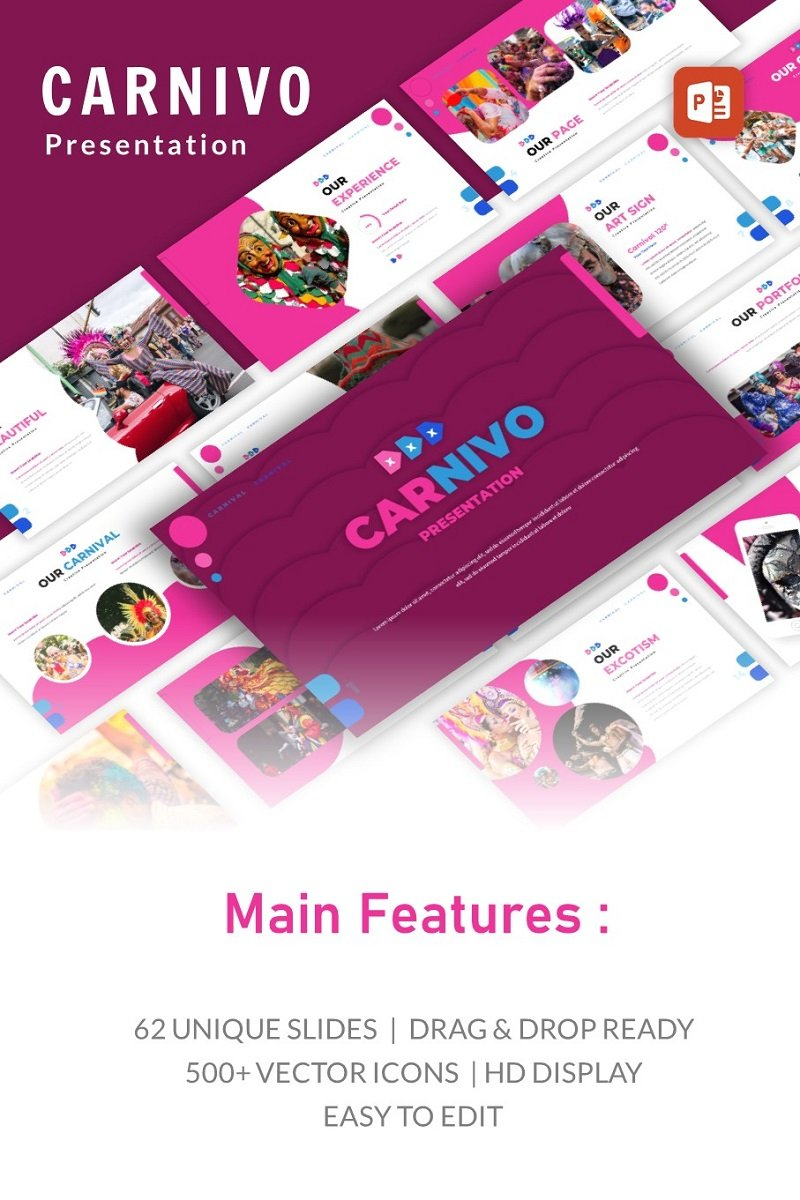 Carniva Creative Presentation PowerPoint Template