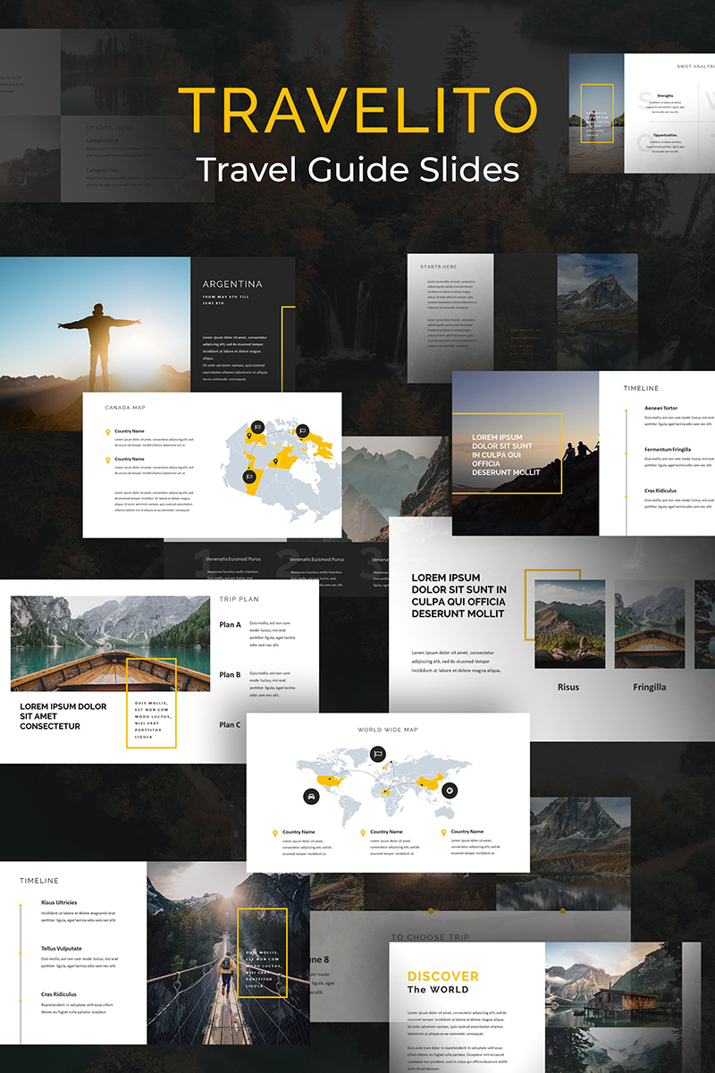 Travelito Travel Guide Slides PowerPoint Template