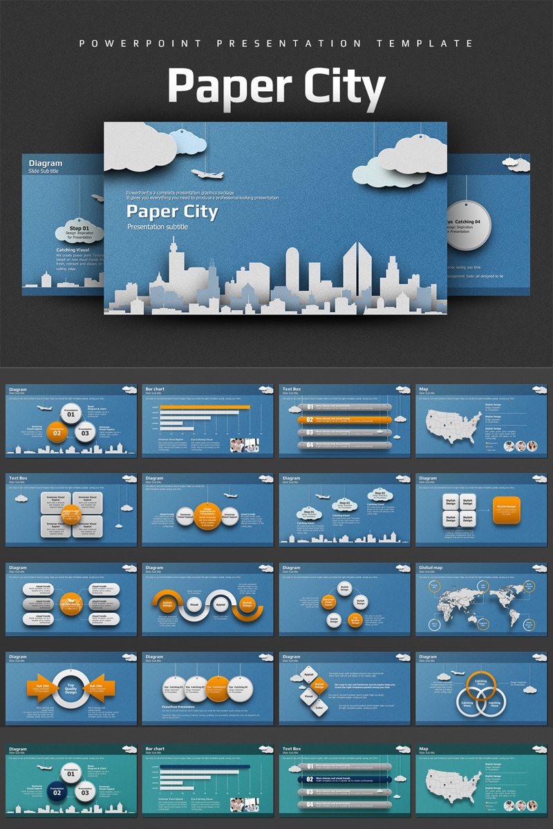 Paper City Paper City PowerPoint Template