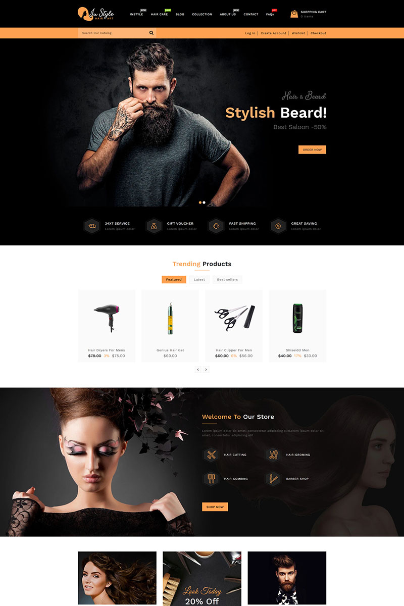 Instyle Hair Art Store Shopify Theme