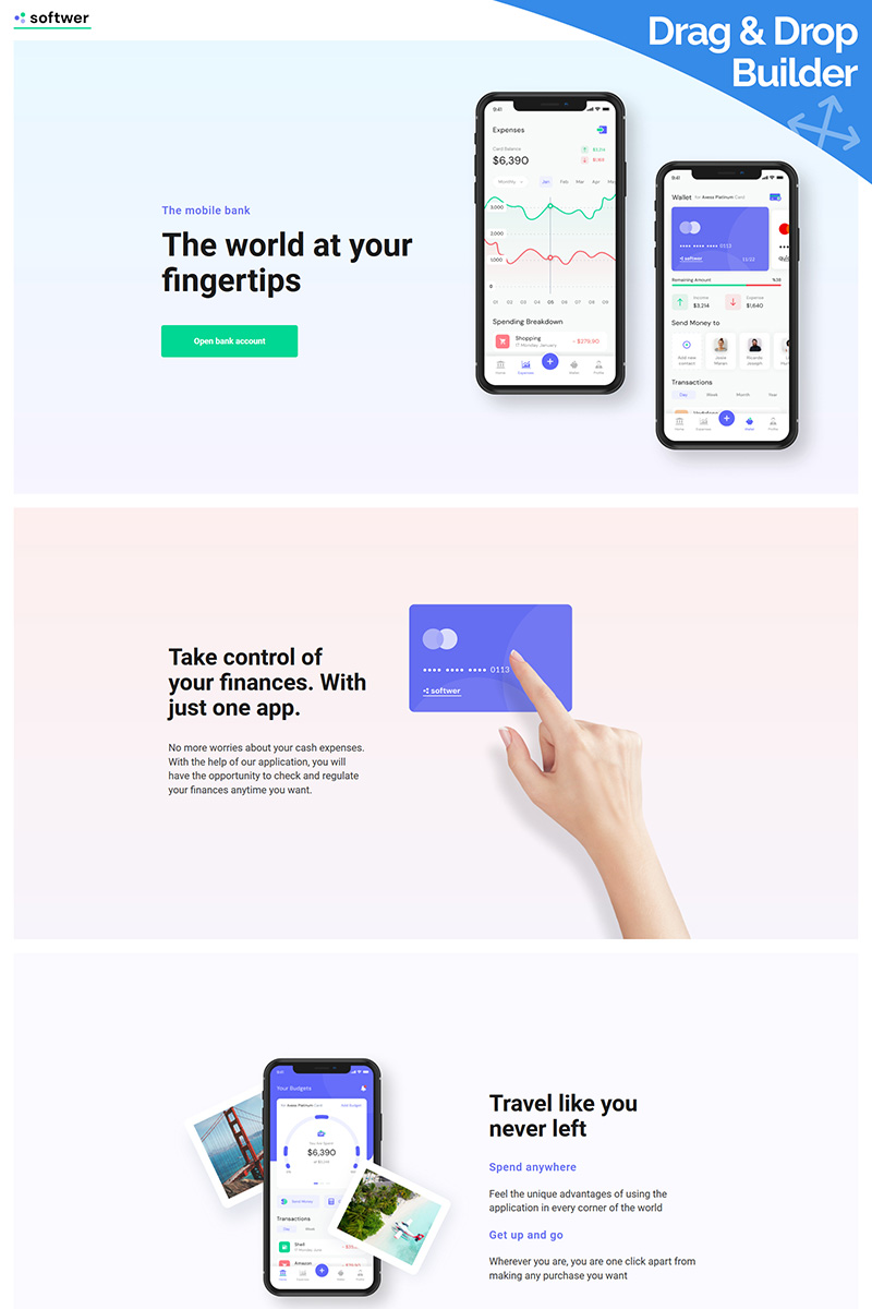 Softwer - Mobile App Moto CMS 3 Template