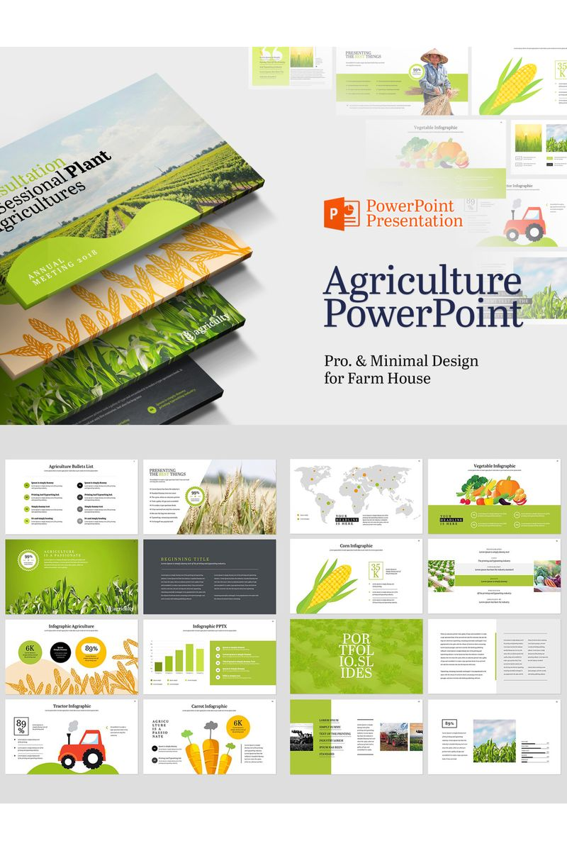 Farm House & Agriculture PowerPoint Template