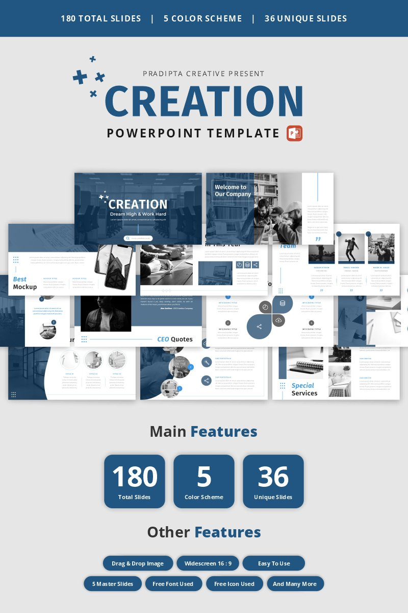 Creation - Creative & Elegant Business PowerPoint Template
