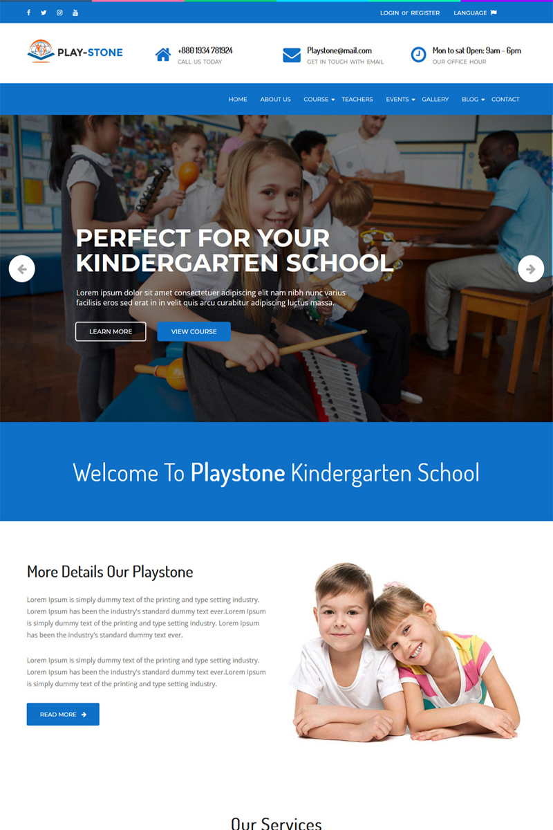 Playstone - Kindergarten & School WordPress Theme
