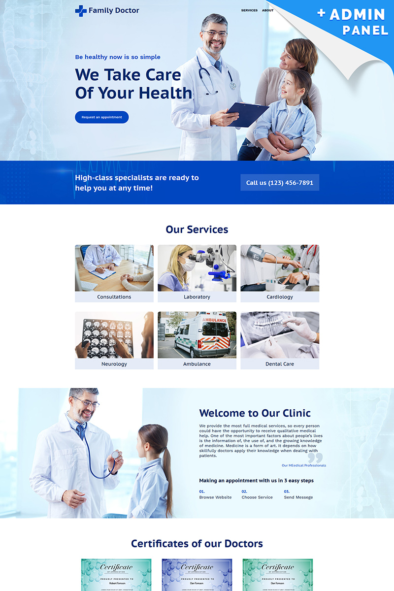 Family Doctor Landing Page Template