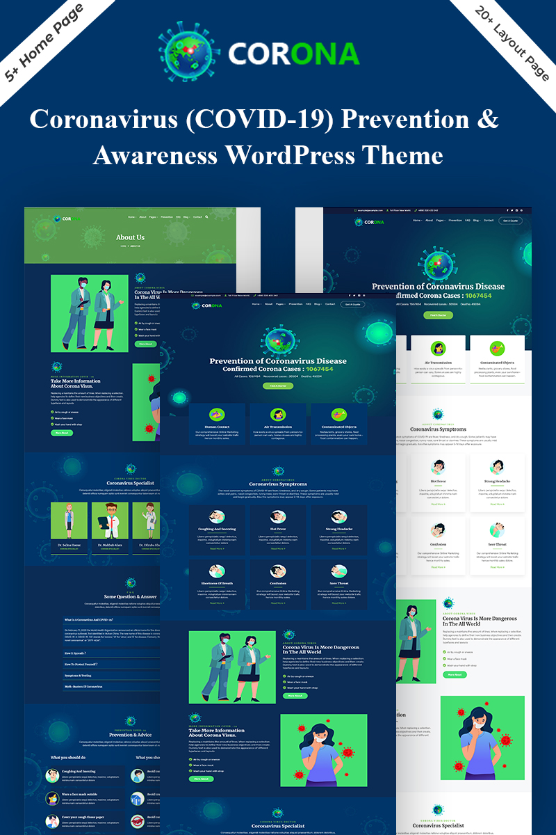 Corona (Covid-19) Prevention WordPress Theme
