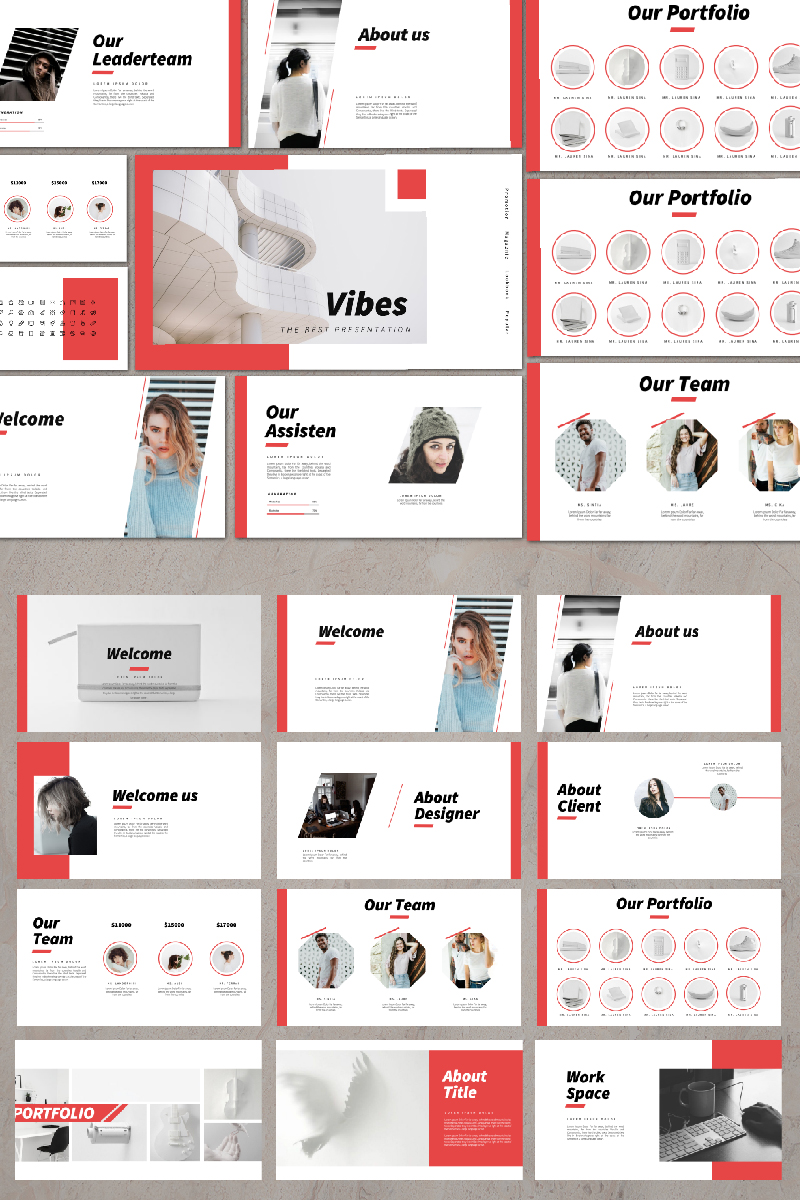 Vibes Presentation PowerPoint Template
