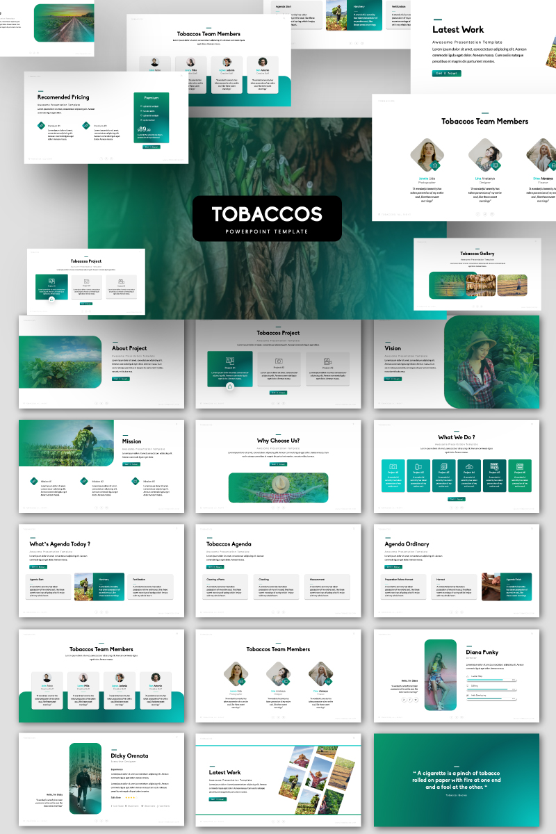 TOBACCOS PowerPoint Template