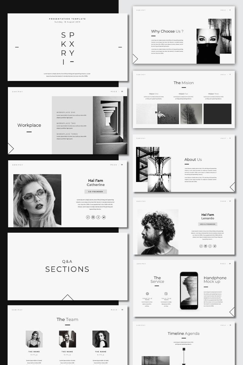SKRIPXY - Clean Presentation PowerPoint Template