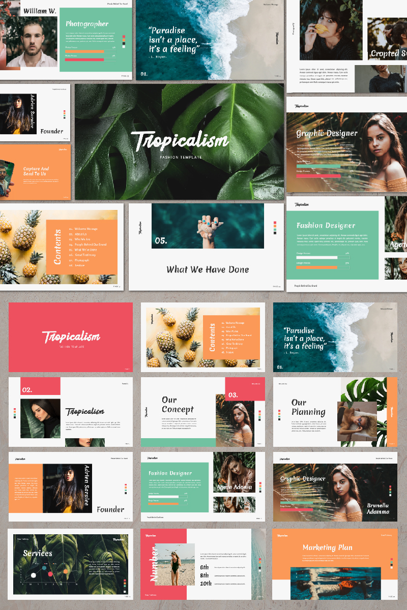 TROPICALISM Presentation PowerPoint Template